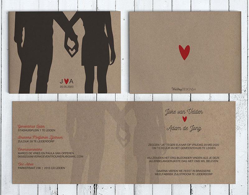 Voorbeeld tekst trouwkaart - Wat staat er op de trouwkaart?