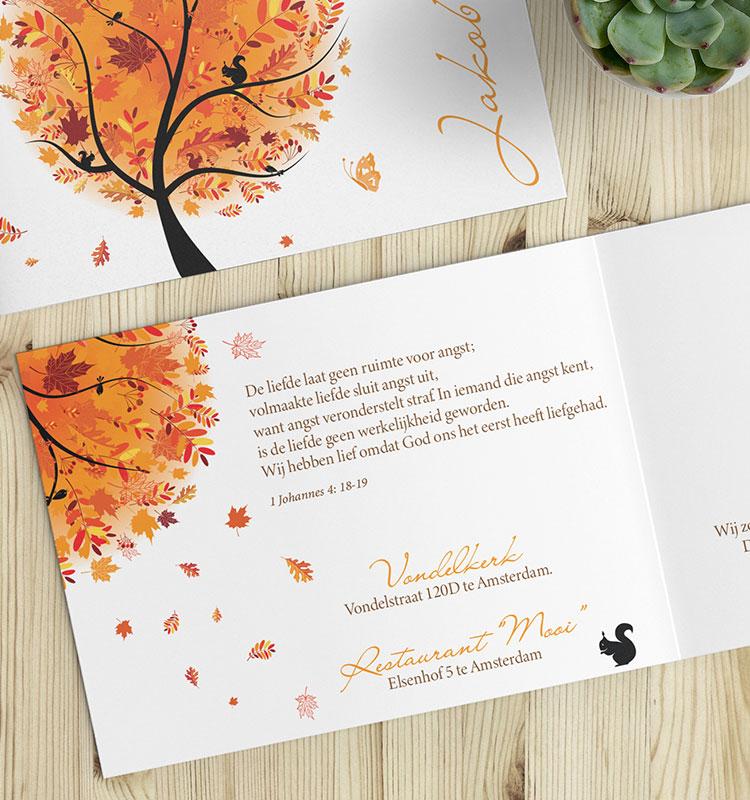 Bijbelteksten voor je trouwkaart - Herfst thema