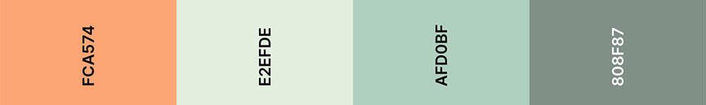 Cantaloupe Kleurenpalet 2 - Trouwkaart Trend 2020