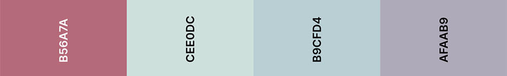 Cassis Kleurenpalet 2 - Trouwkaart Trend 2020