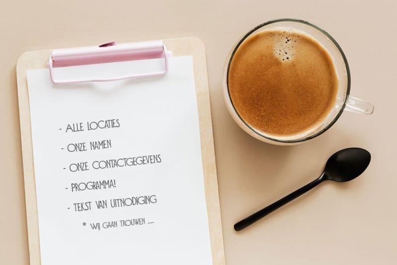 Checklist trouwkaart tekst | Voorkom fouten met een goed overzicht